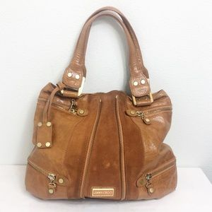 Jimmy Choo Mona Large Tote Tobacco Brown Camel